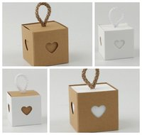 Wholesale chinese heart box resale online - Picess Bridal shower boxes of Love Heart Wedding Favor Box for Wedding decoration gift box and party favor candy box