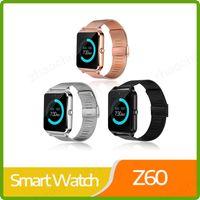heiße smartwatch großhandel-Heißer z60 smart watch metall multi-idioma bluetooth armbanduhr unterstützung sim / tf karte armbanduhr für ios android phone