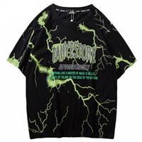 ingrosso usura scura-2019 T Shirt Mens Hip Hop Dark Light Tshirt Streetwear Estate Cotone Harajuku T-Shirt manica corta Top Tees Street Wear