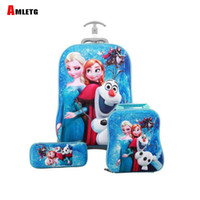 koffer kinder groihandel-Kids Suitcase for Travel Luggage Suitcase for Girls Children Rolling Travel Luggage Bags School Backpack with Wheels Wheeled Bag Y200328