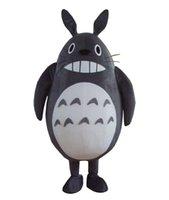 vestido de totoro al por mayor-Traje de mascota de felpa Totoro tamaño adulto vestido de lujo traje envío gratis