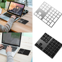 Wholesale rechargeable keyboards for sale - Group buy new Aluminum Alloy Bluetooth Number Pad Rechargeable Wireless Numeric Keypad Slim External Numpad Keyboard
