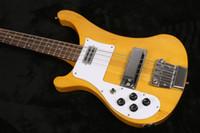 çin basları toptan satış-Sol handed 4 Strings Doğal Sarı 4003 Bas sarı Solak Elektrik Bas Gitar Gülağacı Klavye Noktalar MOP Kakma ric Çin Bas