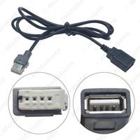 citroen için araba radyosu toptan satış-Araba CD'si radyo ses kablosu fişi USB adaptörü konektörü Peugeot 307 408 Citroen C4 C5 veri kablosu orijinal sürüm # 6157