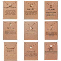 Wholesale friends paper for sale - Group buy Fashion Necklace for women Gold Color Styles Pendant Paper Card Packaging in Opp Pack Best Gift for your Classmate Friend Mother Jewelry