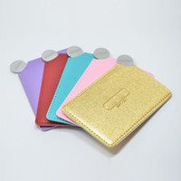 logotipo personalizado billetera al por mayor-Espejos de maquillaje de acero inoxidable irrompibles, espejo de bolsillo compacto de mano, billetera pequeña, placa de espejo para maquillaje (1000 estilos personalizados o LOGOTIPO)