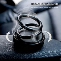 Wholesale paper car design for sale - Group buy Home Gift Scent Ornament Fragrance Office Decoration Rotating Designed Double Ring Air Freshener Car Perfume Fashion
