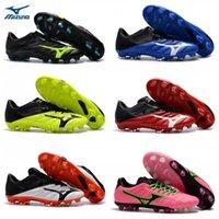 football de futsal achat en gros de-Nouveau 2019 Mizuno Rebula V1 Chaussures de foot pour hommes Chaussures de foot Crampons BASARA AS WID Chaud prédateur outdoor futsal baskets chaussures