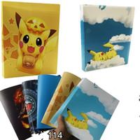 jouets de jade achat en gros de-Cute détenteurs Pikachu Cartes Toy Capacité Kids Game Card Album Livre Pvc Collector pour enfant Party Favors 6 8yc E1