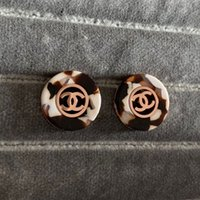 leopardo rosa ouro venda por atacado-Novo designer de marca de luxo rosa de ouro Leopard Stud Brincos Letras Ear Stud Brinco de Jóias de Casamento para As Mulheres meninas Frete Grátis