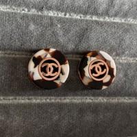 joyería de oro nueva chica al por mayor-Nuevo diseñador de la marca de lujo de oro rosa Leopard Stud Pendientes Letras Ear Ear Earring Joyería de la boda para mujeres niñas Envío Gratis