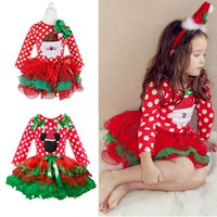 Wholesale branded clothes for baby girl resale online - Fancy New Year Baby Girl Carnival Santa Dress For Girls Winter Holiday Children Clothing Party Tulle Kids Costume