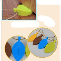 Wholesale baby gates resale online - Silicone Rubber Card Door Stopper Leaf Style Home Decor Finger Safety Protection Wedge Kid Baby Safe Doorways Safety Gates