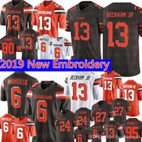 beckham jr jersey toptan satış-Cleveland 13 Browns Odell Beckham Jr 6 Baker Mayfield Forması 27 Kareem Avı 80 Jarvis Landry 21 Denzel Ward 95 Garrett Futbolu