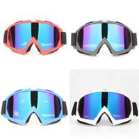 cruces azules frias al por mayor-Motociclismo Esquí de fondo Gafas al aire libre Ciclismo Frosted Moda Blinkers Rojo Azul Negro Blanco Protector de ojos Cool 16zl D1