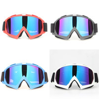 Wholesale blue ski goggles for sale - Group buy Motorcycle Cross Country Skiing Goggles Outdoor Cycling Frosted Fashion Blinkers Red Blue Black White Cool Eye Protector zl D1