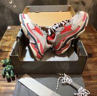 melhor venda de tênis venda por atacado-Designer Triple S calçados casuais Vermelho Verde Triple S instrutor da sapatilha Shoes Novas Cores Dad calçados mais vendidos