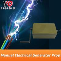 manuel kilitleme toptan satış-YOPOOD Manual Electrical Generator Prop, ampulü yakmak için jeneratör kolunu döndürmeye devam edin veya elektrikli kilit beslemesini açın