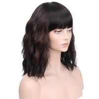 karanlık sarışın vücut dalga saç toptan satış-ÜCRETSIZ NAKLIYE Doğal Saç Çizgisi Koyu Kahverengi Ombre Sarışın Uzun Vücut Dalga Kadınlar Için Tam Saç Peruk Sentetik