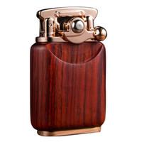 Wholesale sky lighter resale online - Leader sandalwood arm lighter kerosene Lao jiu men creative kerosene lighter old fashioned retro men