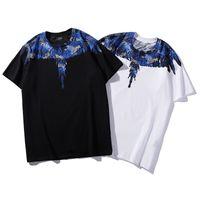 ingrosso maglia blu grigio-19ss Marcelo Burlon MB T Shirt Uomo Donna Italia Brand Wings Summer T-Shirt Blu Argento Grigio Snake Marcelo Burlon Tshirt