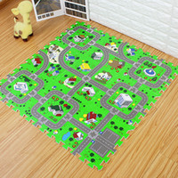 Wholesale race car games for sale - Group buy Play Mats City Road Traffic Baby EVA Foam Carpet Puzzle Crawling Rugs Car Track Playmat Toddler Racing Games Play Mat Toys For Children