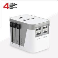 ingrosso spina multifunzione-Adattatore universale da viaggio universale AC multi-funzione con 4 alimentatori per presa a spina per convertitori USB da 3,5A con adattatore UK EU AU