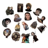 Wholesale waterproof decals motorcycle resale online - 61Pcs Waterproof Game of Thrones PVC Stickers For Suitcase Laptop Motorcycle Skateboard Luggage Decal Kids Toy DIY Sticker