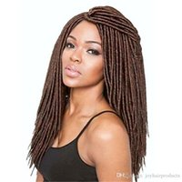 Wholesale blond braiding hair resale online - faux locs crochet hair braid Blonde color hair products strands pack black blond brown color synthetic hair extensions