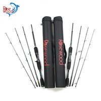 Wholesale china baits for sale - Group buy Rosewood m Fishing Rod Sections Spinning Bait Casting Rod Travel High Carbon Fishing Rods Lure Weight g Tackle China