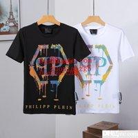 siyah tırnak modası toptan satış-2 renk beyaz siyah marka T-Shirt moda yaz erkek desinger giysi renkli Tırnak matkap mektubu baskı T-shirt Tee gömlek homme MN-5