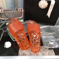 mulheres confortáveis sapatos plana venda por atacado-Senhora de látex transparente chinelos lisos macios e confortáveis três cores estão disponíveis mulheres verão sapato interior