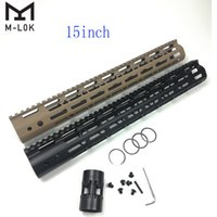Wholesale 15 free float handguard for sale - Group buy 15 Inch M Lok Handguard Rail Free Float Ultralight Design Aluminum Barrel Nut Black or Tan Color Optional