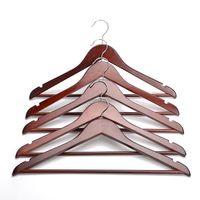 Wholesale wooden pant rack for sale - Group buy Multi Wooden Coat Hangers Clothes Garment Suit Shirt Trouser Wood Hanger Drying Racks Nets Home Store Storage Rack Free Logo KC430