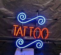 Wholesale tattoo neon signs for sale - Group buy TATTOO Neon Sign Light Bar Advertising Entertainment Decoration Art Display Real Glass Lamp Metal Frame