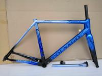 ingrosso colnago 52 cornice-vendita popolare Colnago C64 blu carbonio Telaio T1100 UD carbonio struttura della bici strada 48 50 52 54 56 centimetri