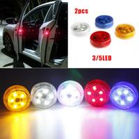ledli flaş aydınlatması toptan satış-Işık Otomobil Strobe Kablosuz Evrensel LED Kapı Uyarı Araba LED kapı uyarı ışığı Sinyal lambası LED Flaş Işığı Otomatik Araç Kapı