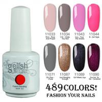 ingrosso 15ml polish gelish-100% Brand New Gelish Nail Polish Soak Off Nail Gel 489 colori 15ml 12 Pz / lotto 15 ML all'ingrosso della fabbrica