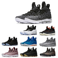 2019 New Arrival XV LEBRON 15 EQUALITY Black White Basketball Shoes for Men  15s EP Sports Training Sneakers Size 40-46 22be1baa7050