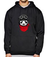 Wholesale panda hat men resale online - Spring Winter Fleece Warm Hoody With Hat Hot Long Sleeve Hoodies Mens Panda Crazy Print Cool Hip Hop Streetwear Tracksuit