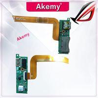 usb port board toptan satış-Kablo ile akemy asus N550 N550J N550LF N550JV Kablo ile USB Kart Okuyucu Port Kurulu 69N0Q2B10C01