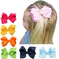 Wholesale hair clip ribbon grosgrain flower resale online - NEW Styles Baby Girls Kids Hair Bow Hairpin Alligator Bowknot Ribbon Clip Grosgrain DIY Gifts
