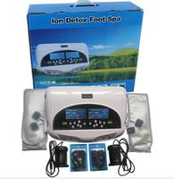 iyonik detox makineleri toptan satış-2019 Yeni Derin Temizlik Çift İyonik Ayak Detoksu Ile Bileklik FIR Kemer, CE Onaylı Detoks Makinesi, İyon Ayak Spa, Ayak Banyosu, İyon Temizlemek Ücretsiz Gemi