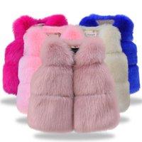 jaqueta de inverno outwear bebê venda por atacado-Roupas de moda infantil Outono Inverno Casacos de pele de bebê para meninas Jaquetas de flores Para crianças Roupas Top bebê Meninas Outwear