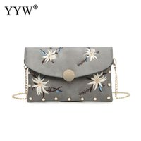повседневная сумка для слинга для женщин оптовых-Casual Clutch Bags For Women 2018 Chain Sling Shoulder Bag Female Black Floral Print Clutches Purse Crossbody Bags Woman