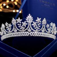 calidad del pelo princesa al por mayor-2019 Increíble Vintage nupcial de la boda del pelo tiaras corona de calidad superior impresionante nupcial princesa accesorios de la joyería de cristal corona de pelo para nupcial