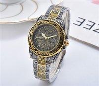 ingrosso orologio al quarzo di design vintage-orologio da uomo di lusso vintage orologio da uomo di design 6 stili movimento al quarzo in oro rosa Orologi da polso montre de luxe