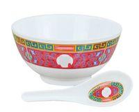 Wholesale set bowl dinnerware resale online - Sup Brand Bowl Spoon Set Ceramic Moderate In Size Jubilation Dishware Eco Friendly Reusable Artifact Anti Scald Dinnerware frD1