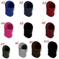 Wholesale riding masks dust for sale - Group buy Outdoor Caps Unisex dust mask Warm Barakra Hat Tactical Mask Thicken winter Ski riding Cycling Skull Ear Muffs MMA2376