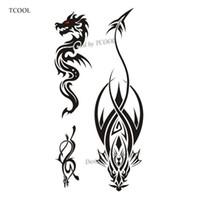 drachen tattoos aufkleber großhandel-TCOOL Drachen Frauen Tätowierung Aufkleber Tattoos für Wasserdichte Männer Mode Körperkunst Kinder Hand Gefälschte Tätowierung 10,5X6 cm A-216